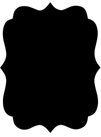Large vinyl decal rectangle. Chalkboard clipart scalloped graphic free stock