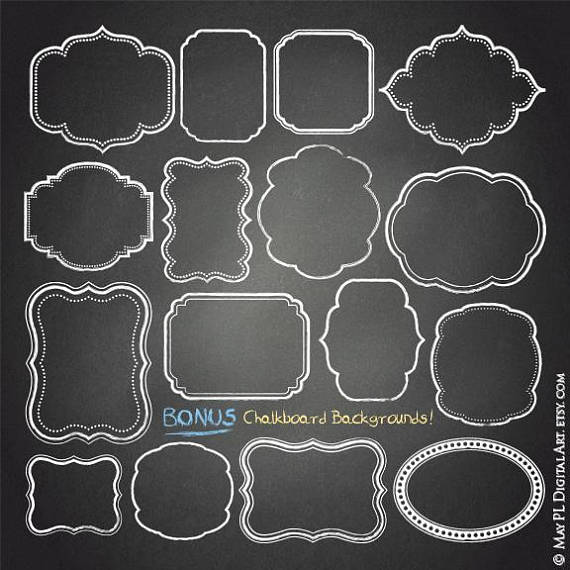Frame free commercial use. Chalkboard clipart scalloped free