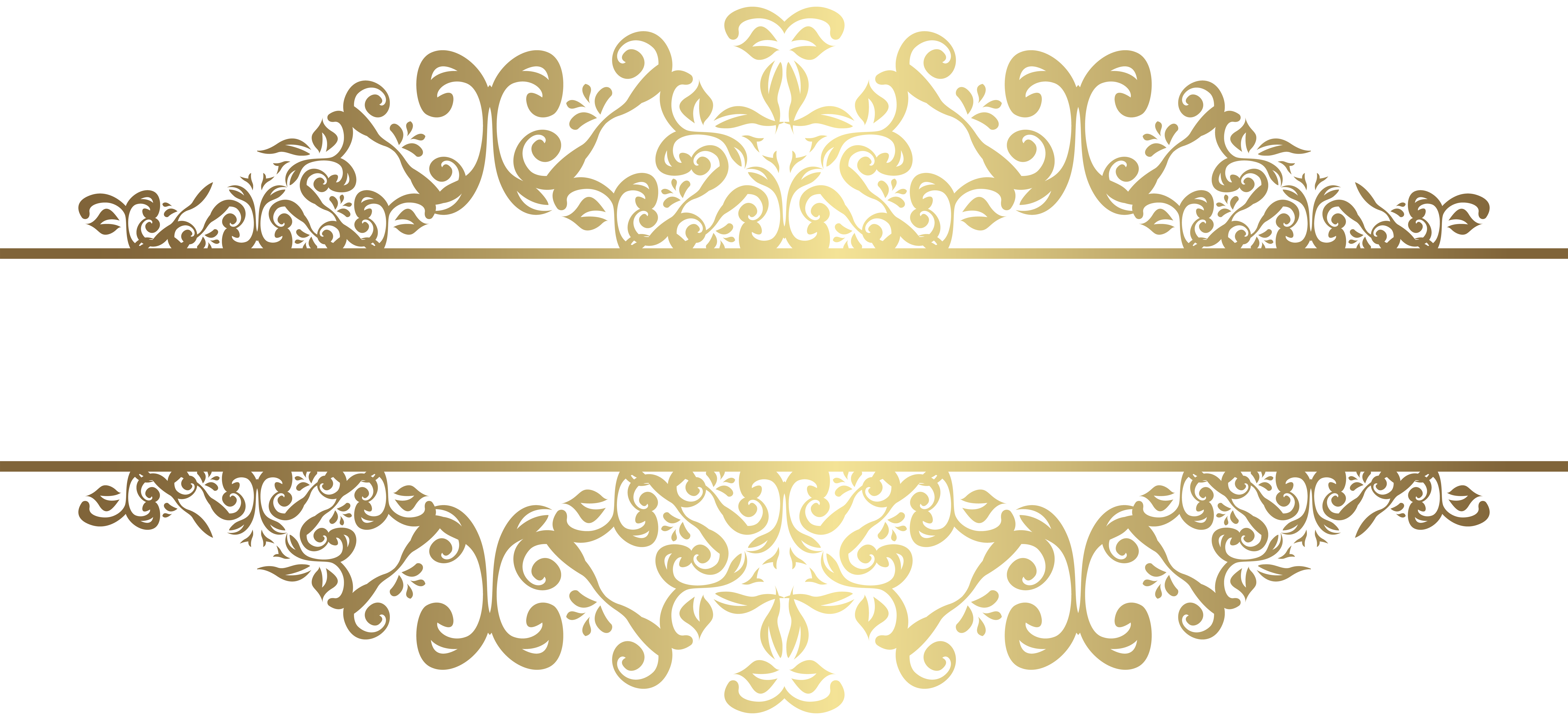Gold decorative lines png. Element clip art gallery