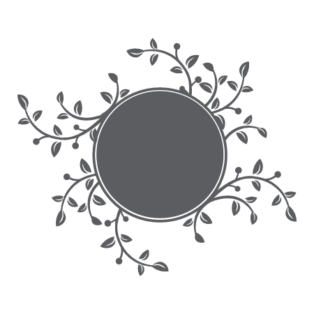 Chalkboard embellishments png. Circle with branches leaves