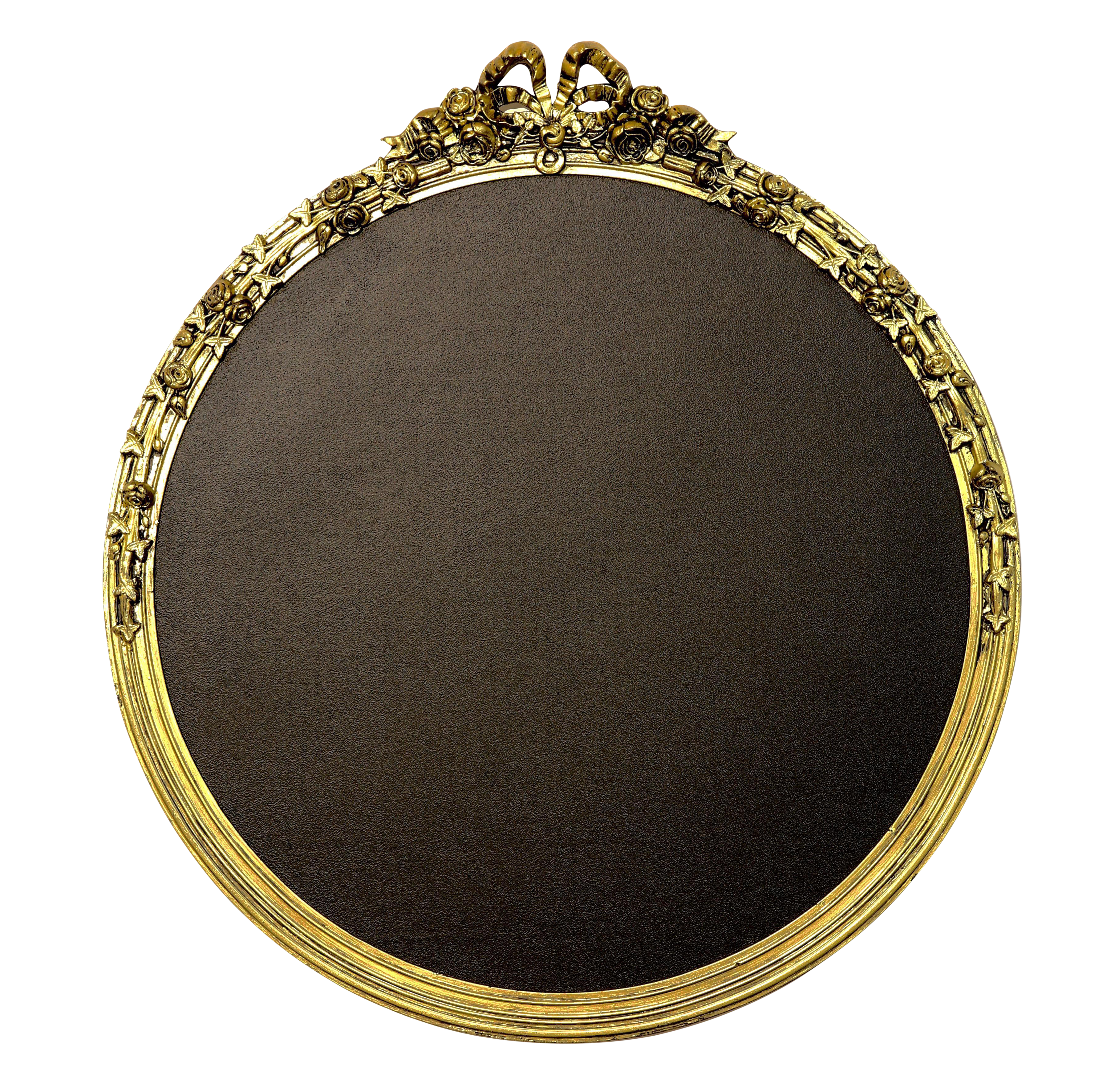 Chalkboard frame png. Round gold framed chairish