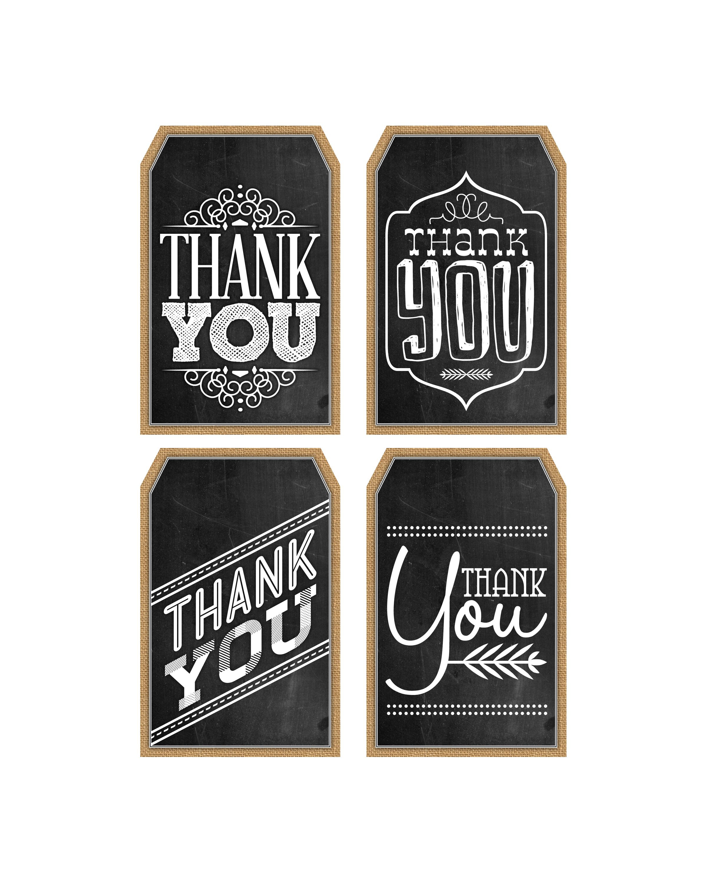 Chalkboard label png. Free printable thank you