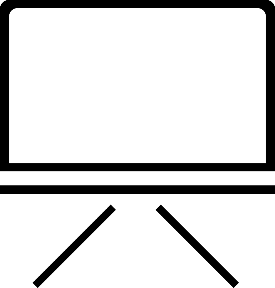 Blackboard drawing business. Free icon png download