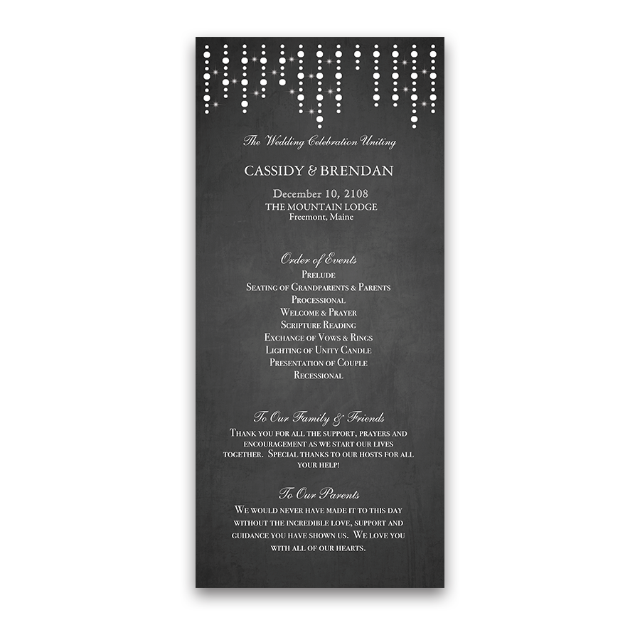 Chalkboard .png. And lights wedding ceremony