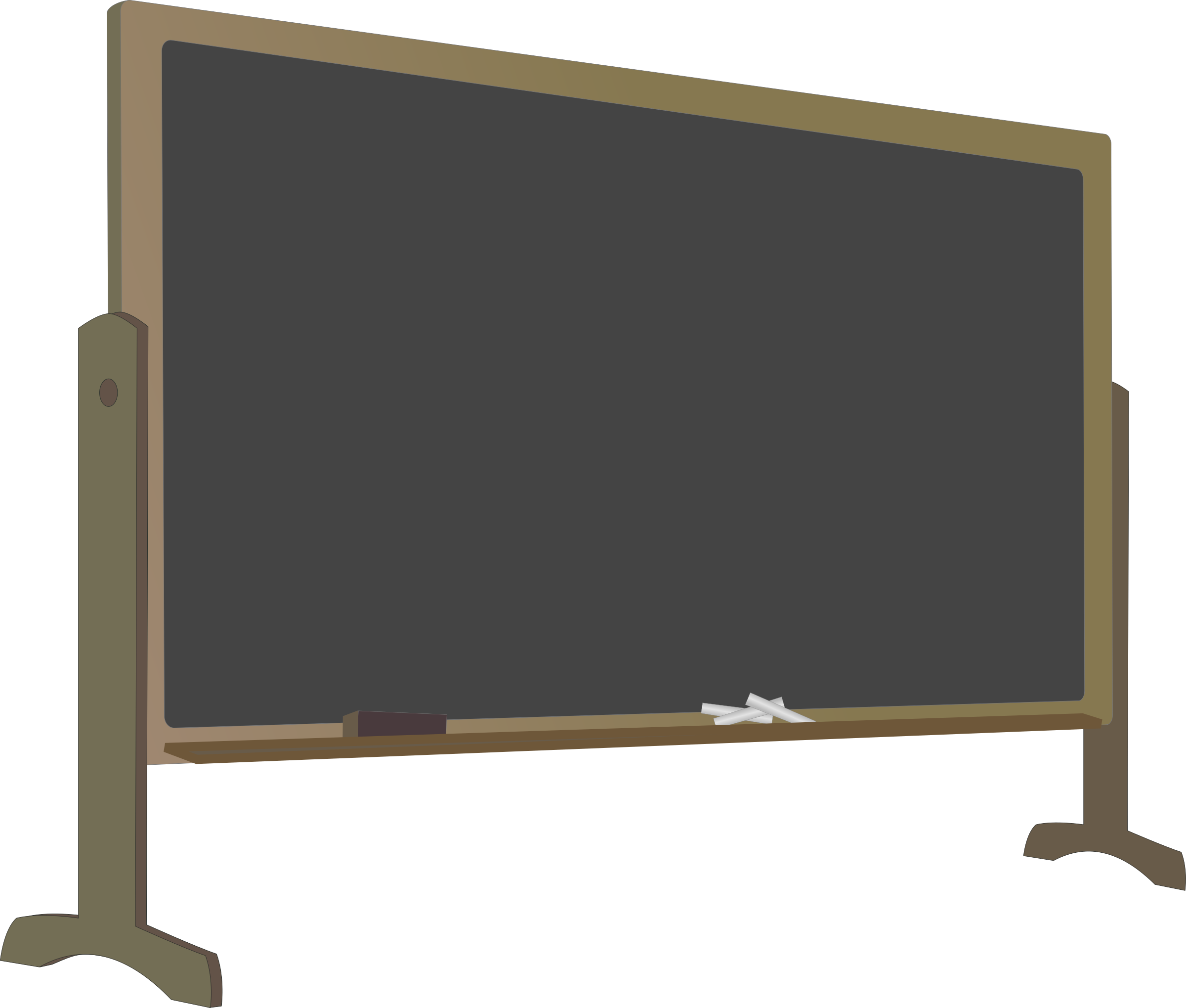 Blackboard with eraser and chalk png. Stand icons free downloads