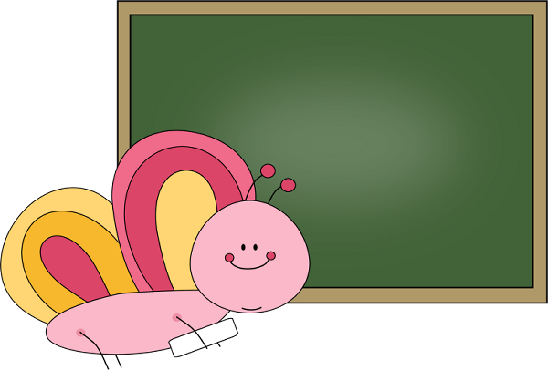 Chalkboard clipart png. Butterfly clip art image