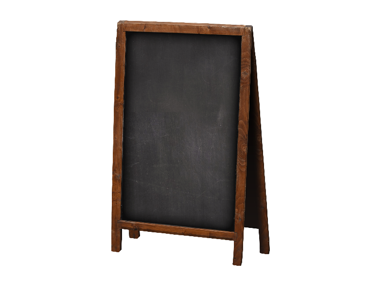 Chalkboard png background. Wood frame sign isolated