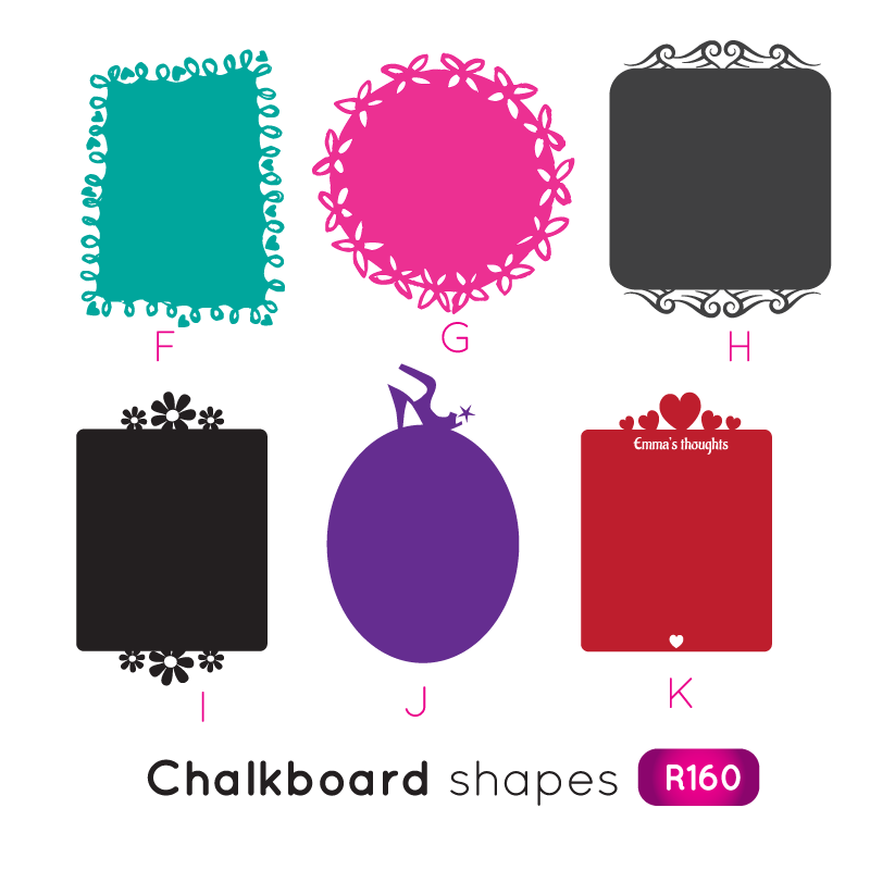Chalkboard shapes png. Wall decals creative labelscreative
