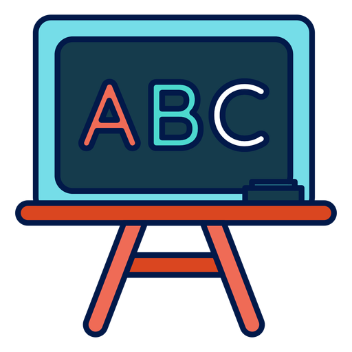 Chalkboard transparent svg. Abc icon png vector