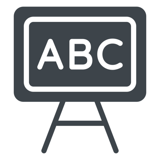 Chalkboard transparent svg. Abc flat icon png