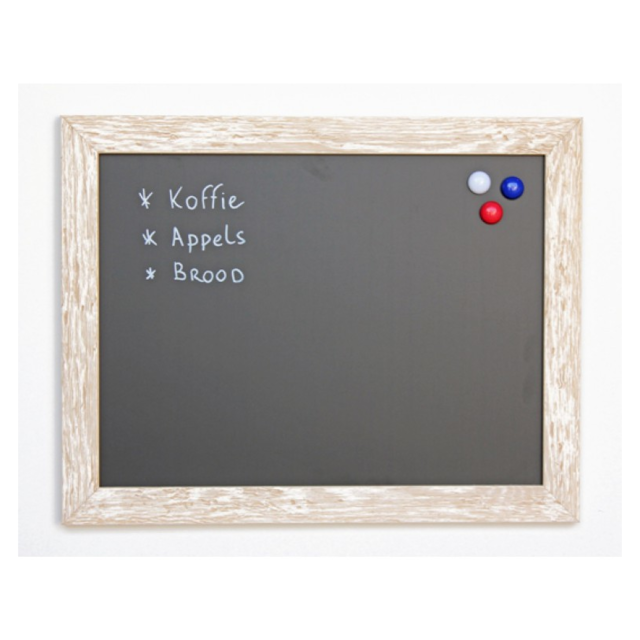 Chalkboard transparent wooden. Wood x cm white