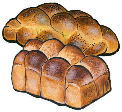 challah drawing pita bread