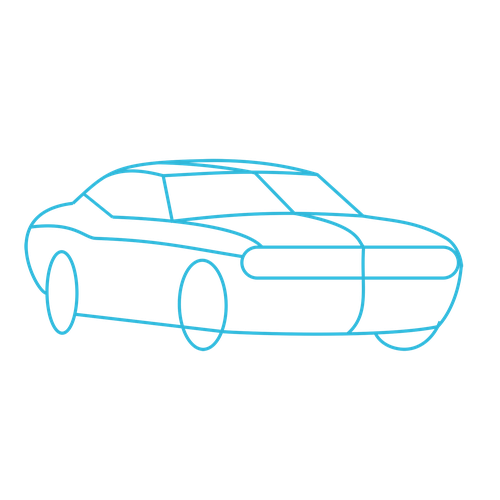 Challenger drawing. Dodge srt how to
