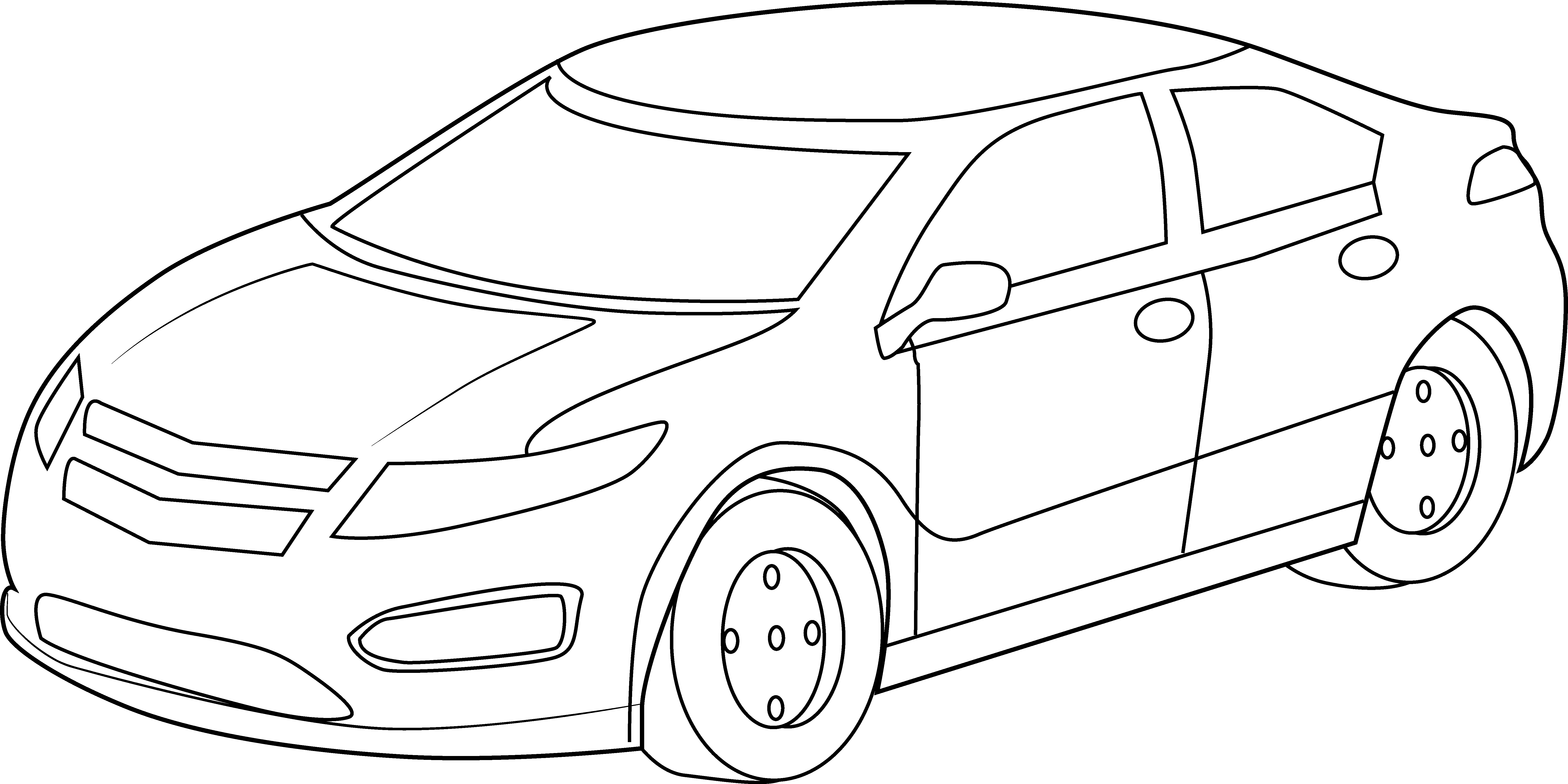 Vehicle outline drawing at. Cool clipart sport png royalty free library