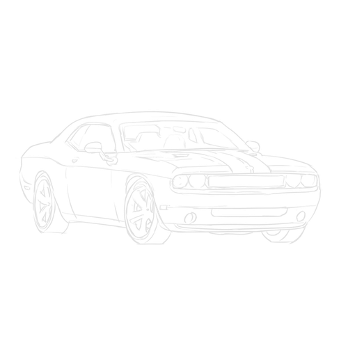 Challenger drawing dodge. Srt how to draw