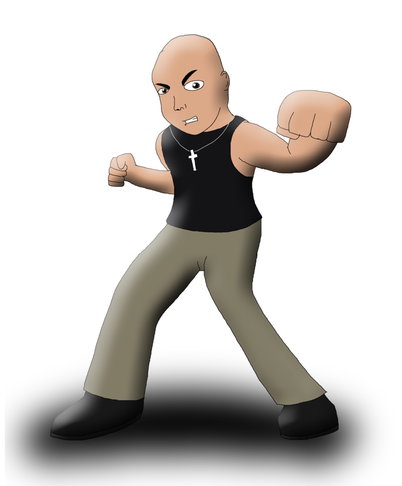 Challenger drawing dominic toretto. Smashified by cartoonanimefan on