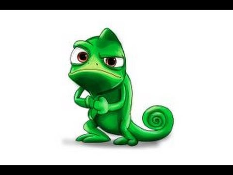 Chameleon clipart rapunzel pascal. Tangled drawing at getdrawings