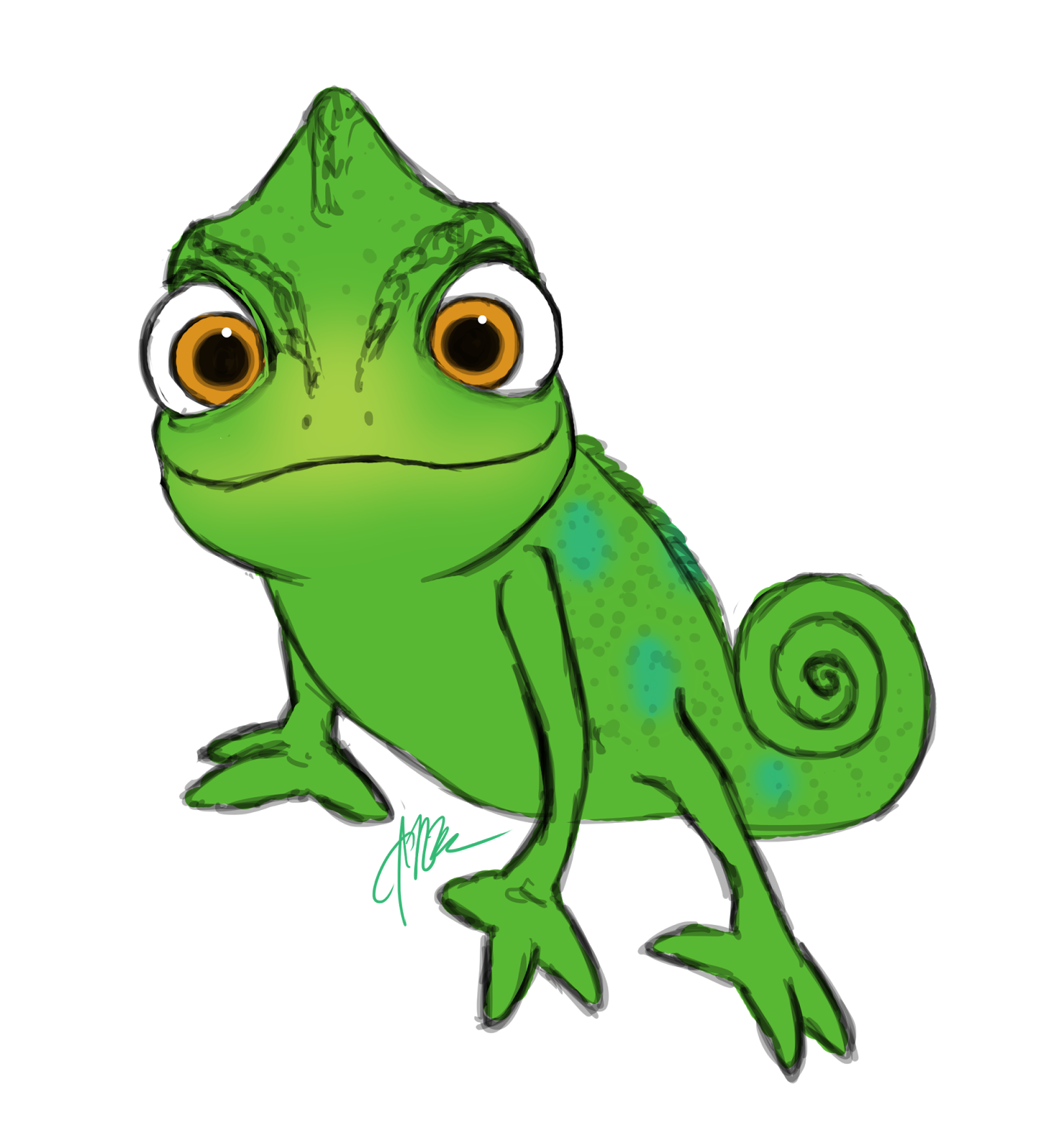 Chameleon clipart rapunzel pascal. Images for tangled smiling