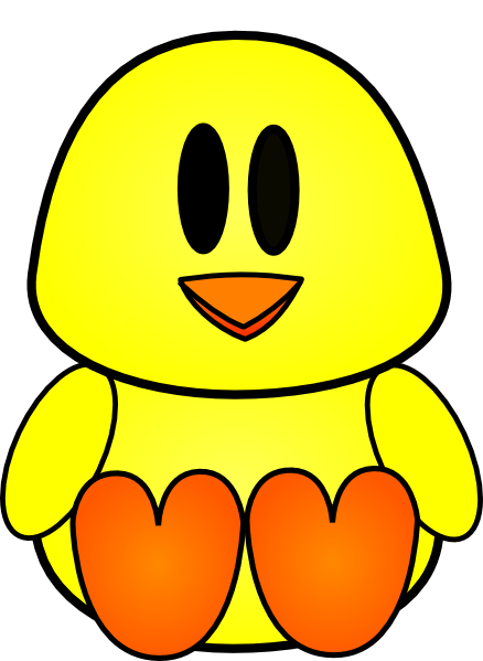 Chick clipart baby hen. Simple free on dumielauxepices