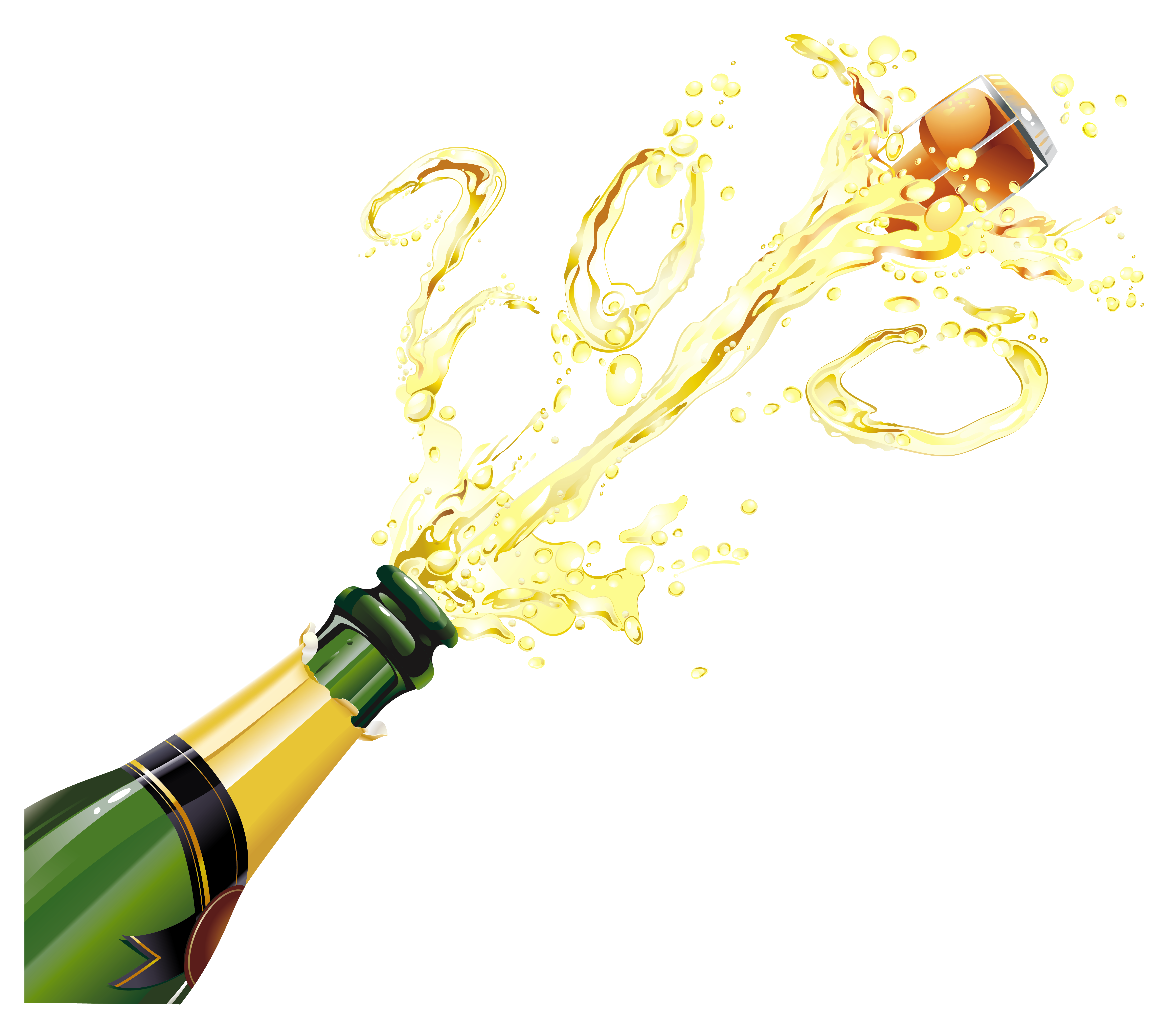 Champagne bottle png. Photo arts