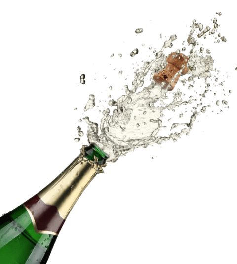 Pop vector champagne. Popping png free images