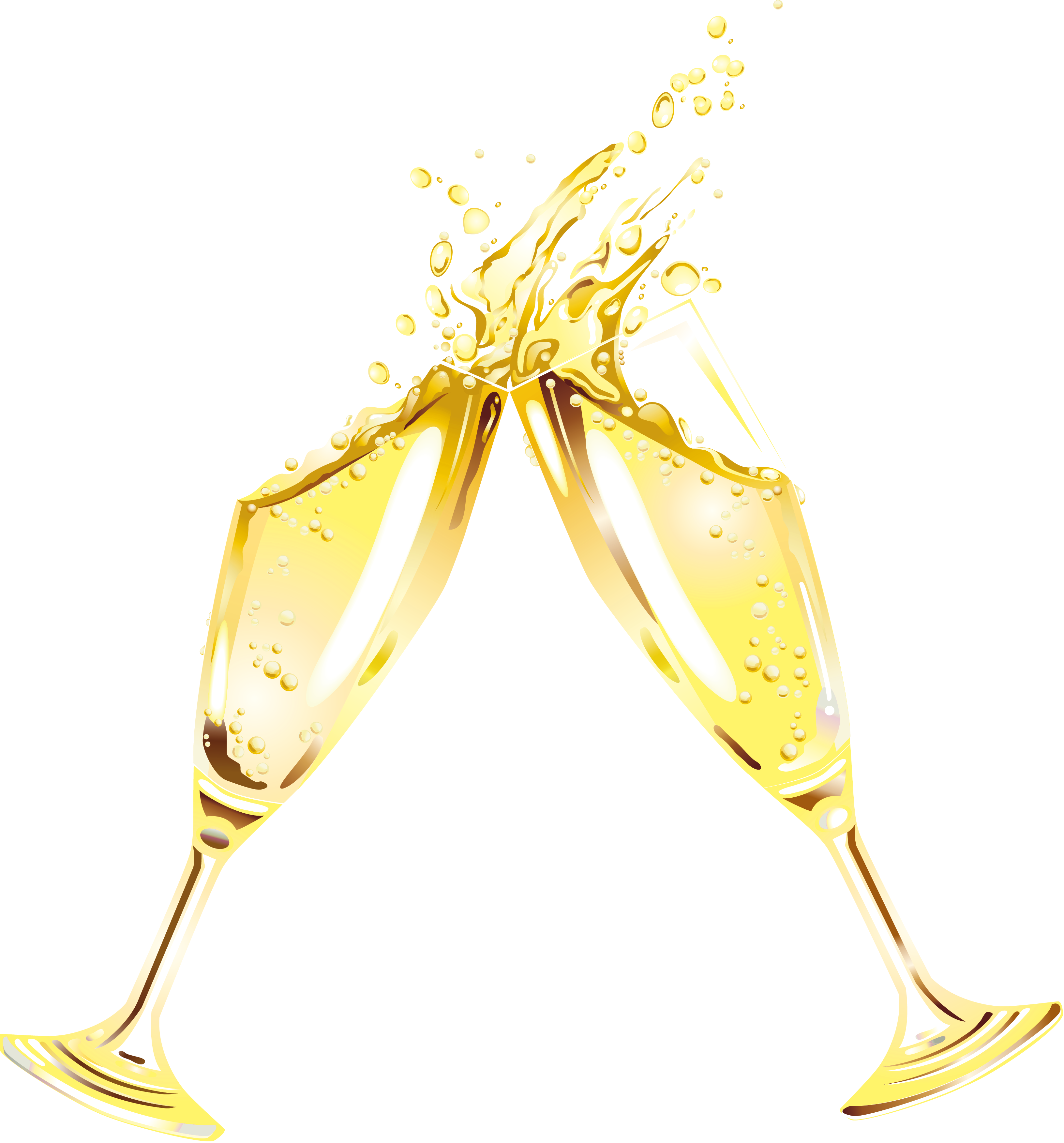 Champagne transparent pop vector. Glass png