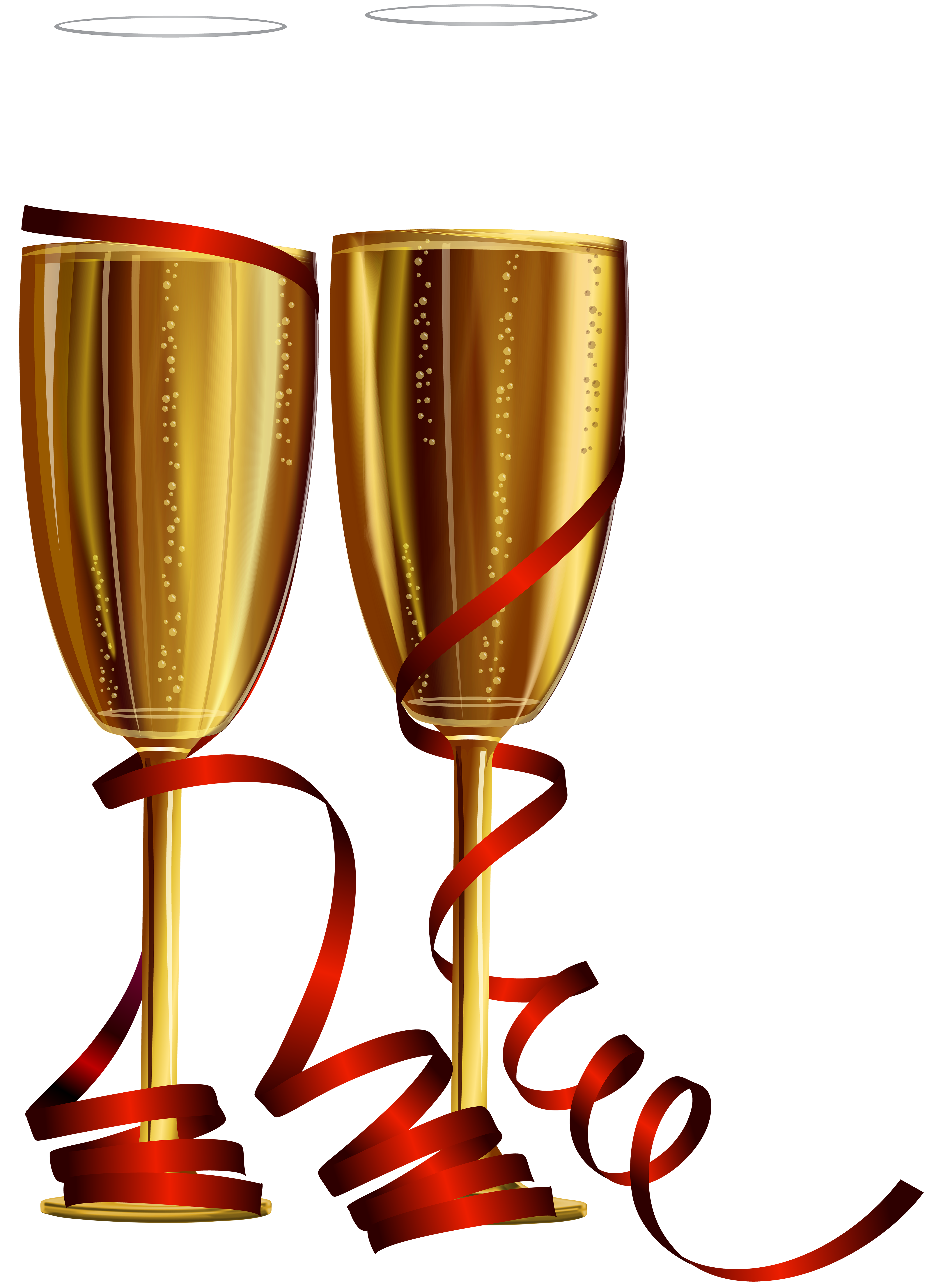 Champagne glasses clipart png. New year clip art