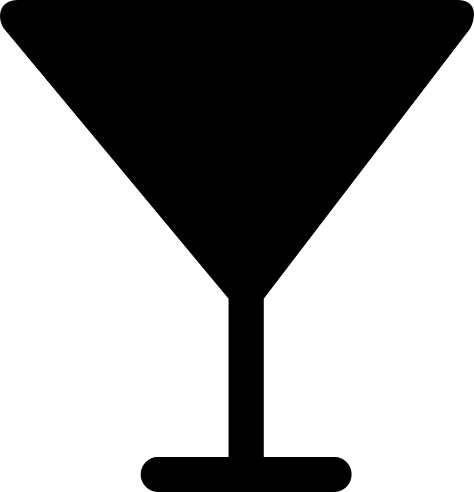 Martini silhouette png. Glass of cocktail svg