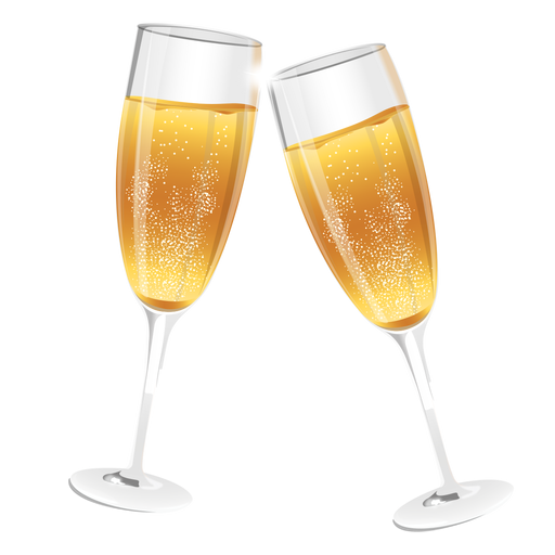 Champagne toast png. Transparent images pluspng glasses