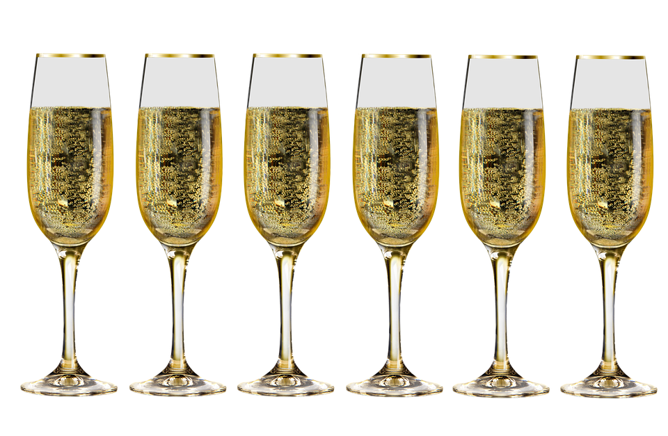Champagne transparent confetti. Wallpaper download drink glass