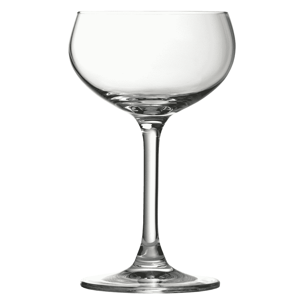 Champagne transparent crystal. Retro coupe glass cl