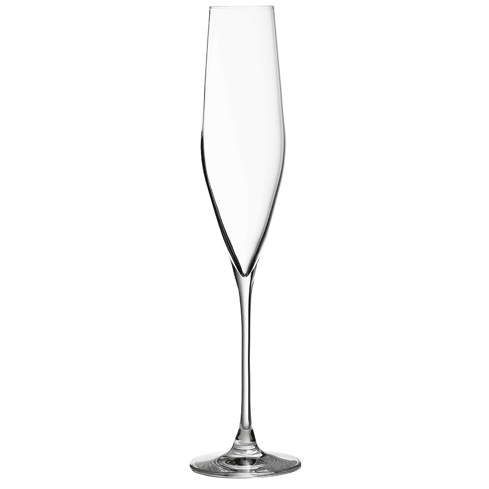 Champagne transparent crystal. Bacci flute cl glass