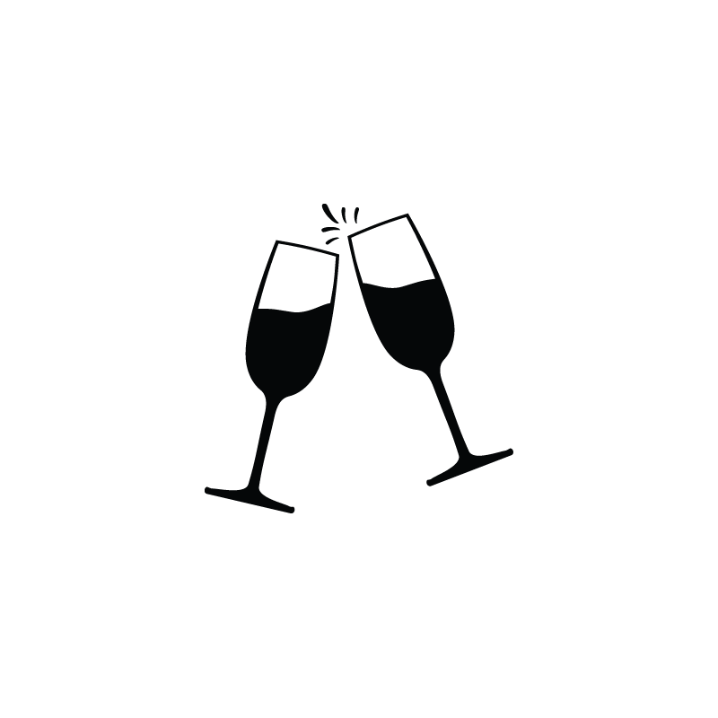 Champagne transparent party. Glass picnic icon