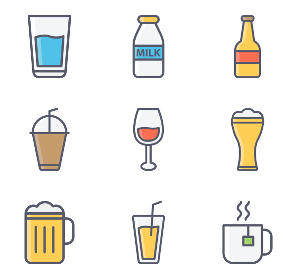 Champagne vector png. Icons free drinks and