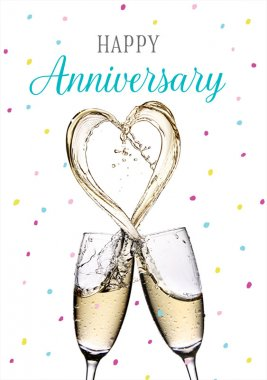 Anniversary clipart champagne flute. Happy glasses cardsonly
