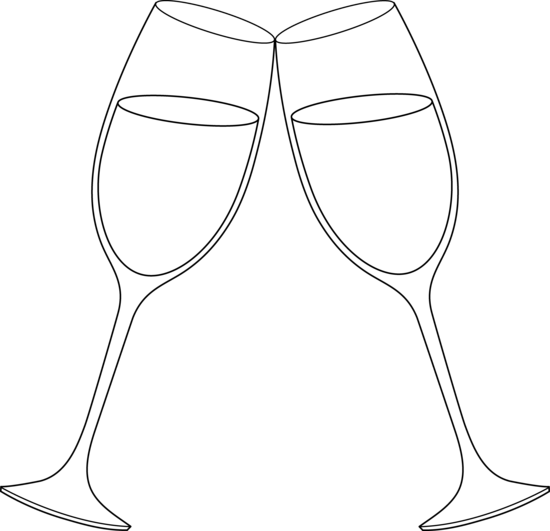 Champaign clipart black and white. Free clip art for