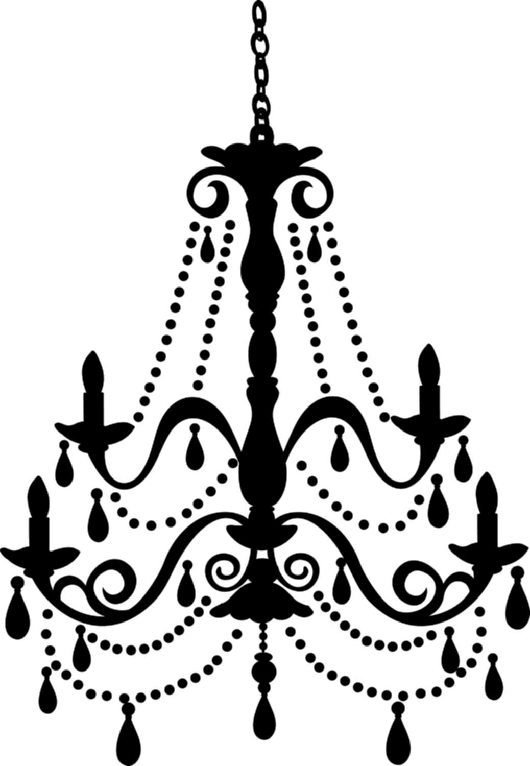 Light chandeliers photos home. Chandelier clipart jpg black and white