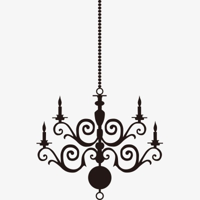 Chandelier clipart. European chandeliers silhouette png
