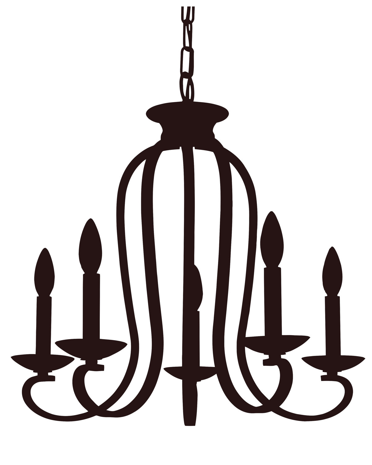 Free cliparts download clip. Chandelier clipart jpg black and white download
