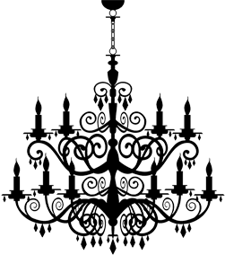Chandelier graphic png. Not found masque boutique