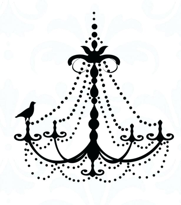 Chandeliers drawing at getdrawings. Chandelier clipart easy graphic black and white library