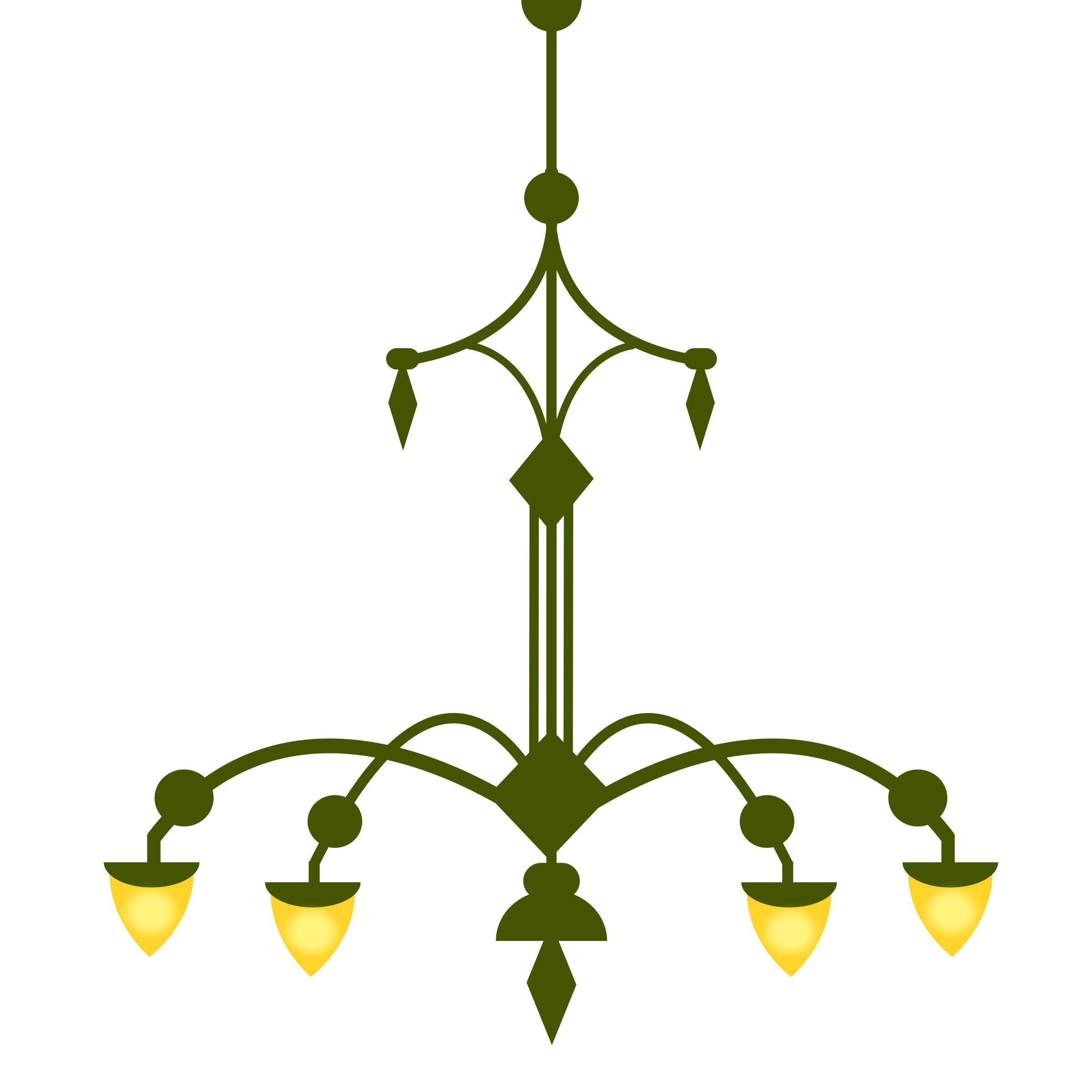 Chandelier clipart png. Ornate with lamps version