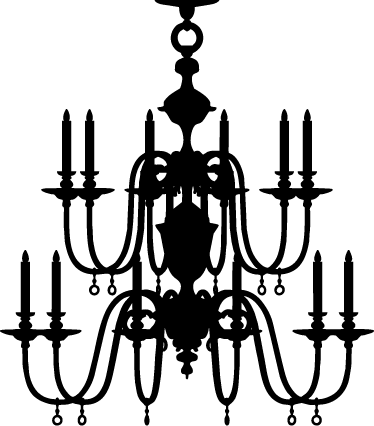 White at getdrawings com. Chandelier silhouette png jpg freeuse download