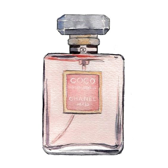 Chanel drawing coco mademoiselle. No perfume transprent