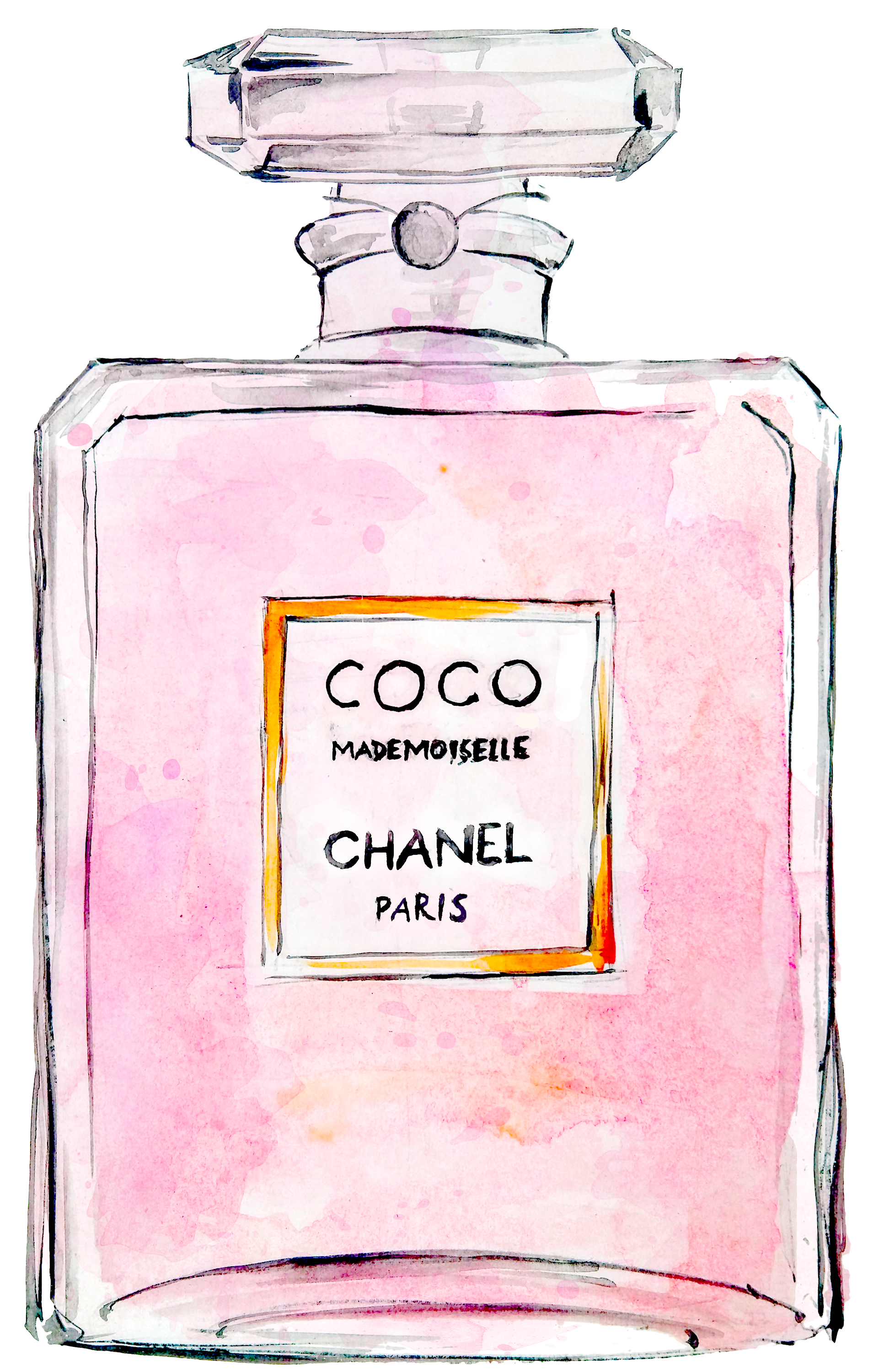Chanel drawing coco mademoiselle. Perfume no chanelcoco transprent