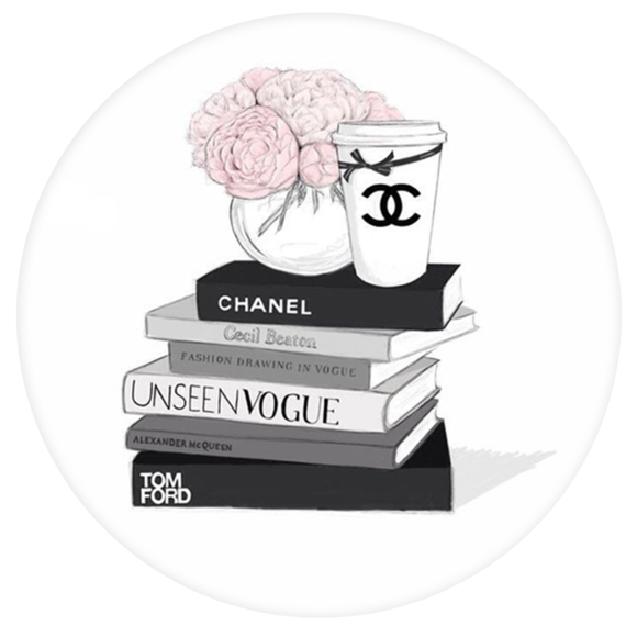 Chanel drawing poster. Fashion illustration transprent png