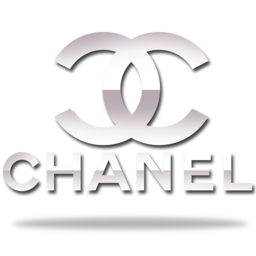 Chanel drawing sign. Vintage sticker png coco