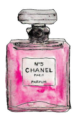 Chanel drawing watercolor. Stylabl pic perfume tray
