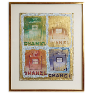 Chanel drawing watercolor. Pietro psaier perfume bottles