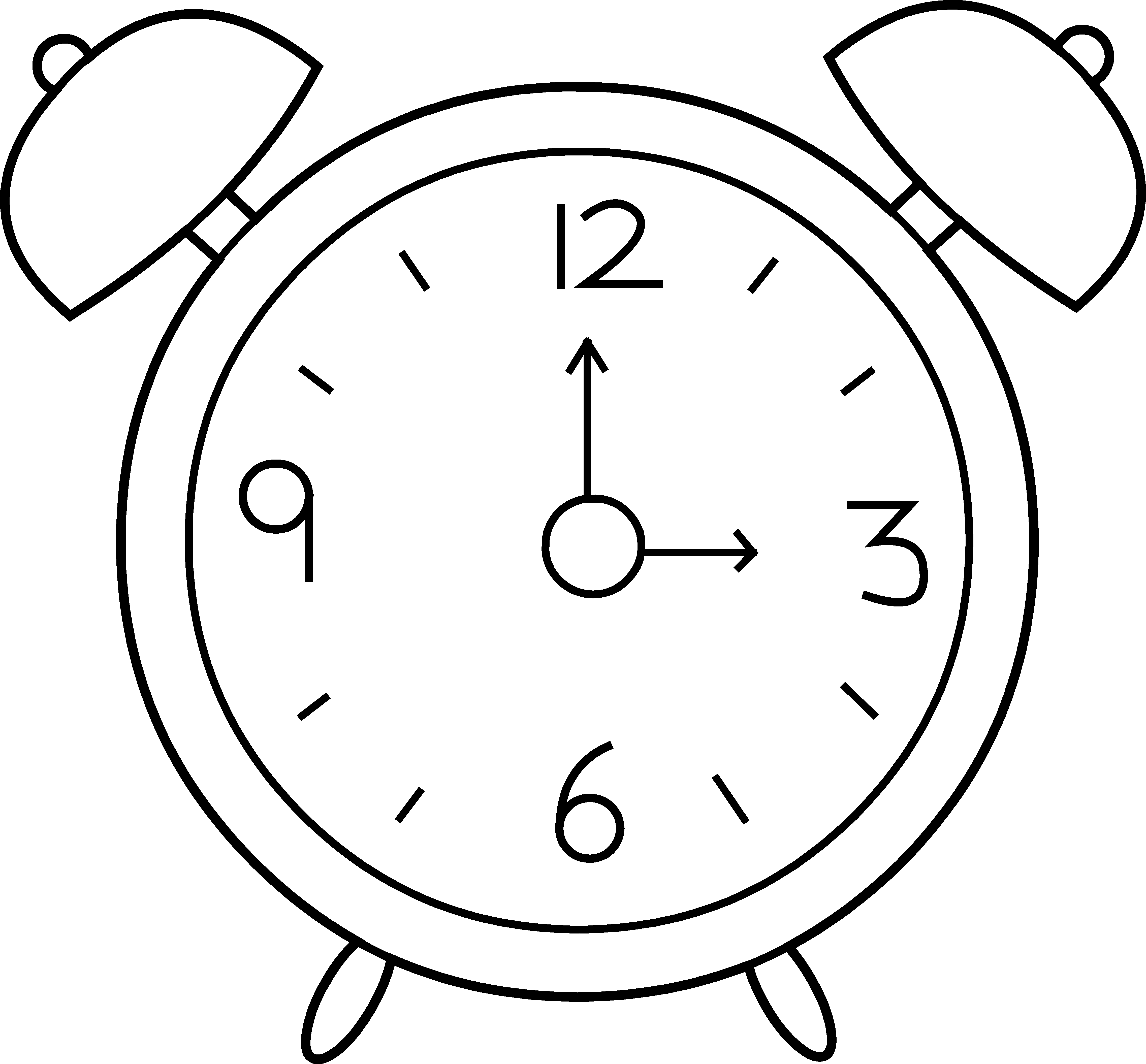 Alarm clipart happy. Of people setting their